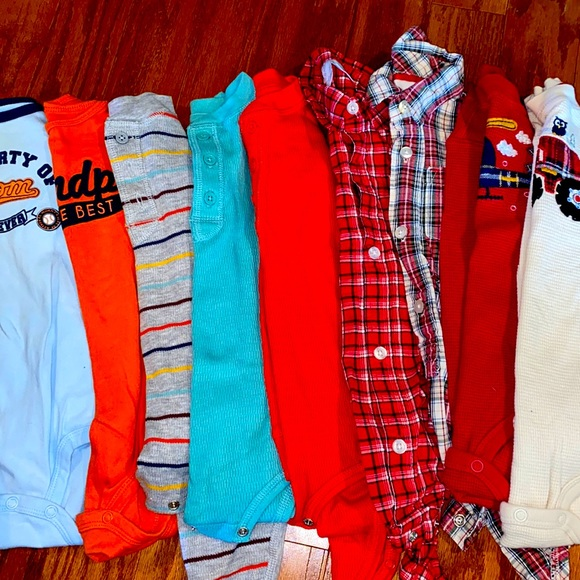 Baby 24 Months One Piece Snap Lot 9